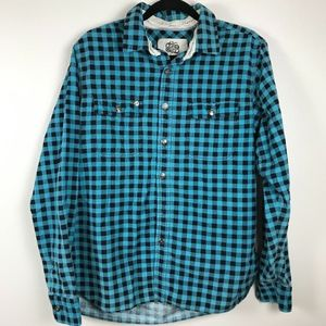 3/$20 Obey Plaid Button Down Flannel Shirt